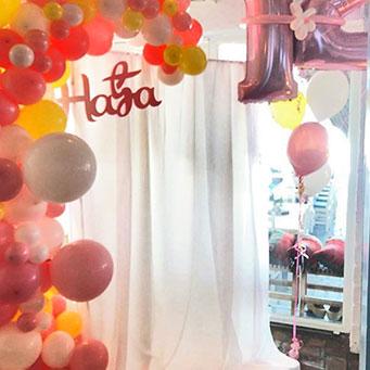 dekoracija rodjendana balonima