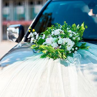 dekoracija auta za mladence